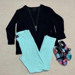 Mint colored leggings
